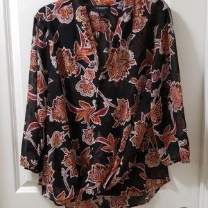 Liz Claiborne women's floral blouse